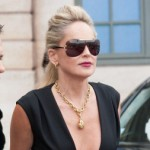 Sharon Stone Sighting In Paris - July 2, 2012